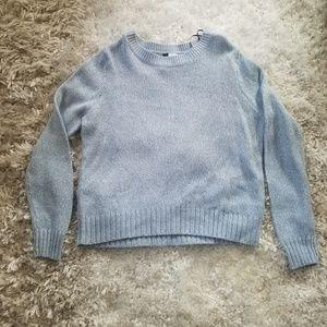 H&M Knit Baby blue heathered Knit Sweater